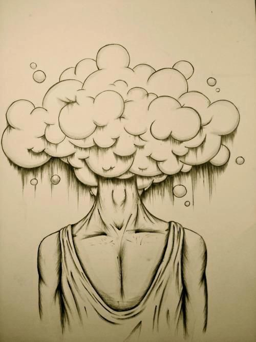 Head in the clouds full of ideas