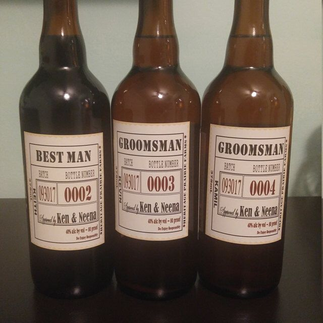 Groomsman Beer Labels Custom Proposal Bottle Will You Be My