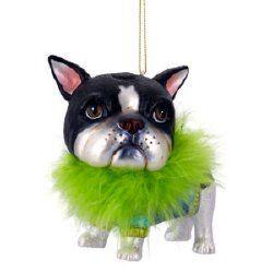 boston terrier french bulldog christmas tree decoration on ebay