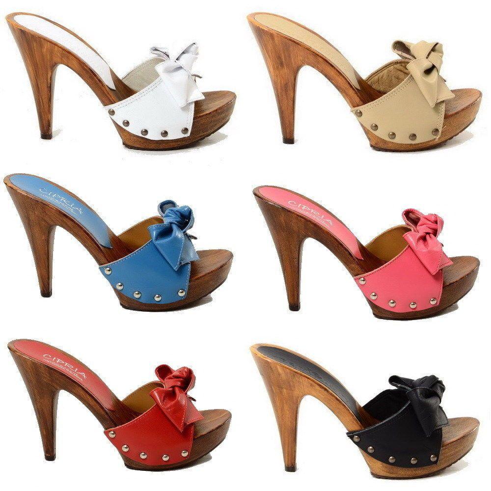 Absatz Sandaletten Clogs Damen Faux Heels Damenschuhe Holz High 67IybfgYv