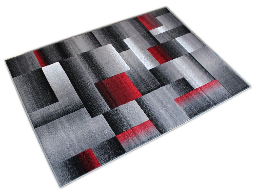 Masada Rugs Modern Contemporary Area Rug Red Grey Black 5 Feet X 7 Feet Check This Awesome Product By Going Contemporary Area Rugs Burgundy Rugs Area Rugs
