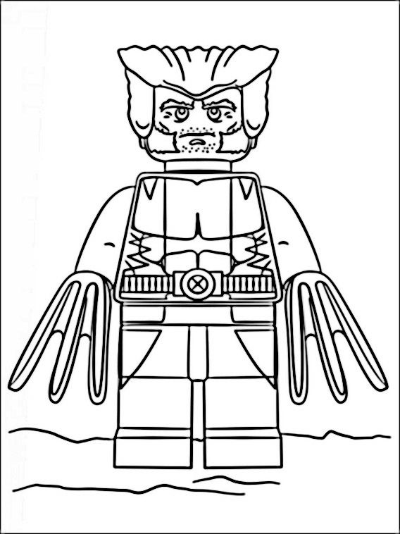 Nice Lego Avengers Coloring Pages