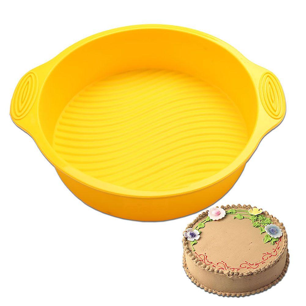 1 Pcs Round Silicone Cake Pan Mold Bakeware Bread Baking Non Stick