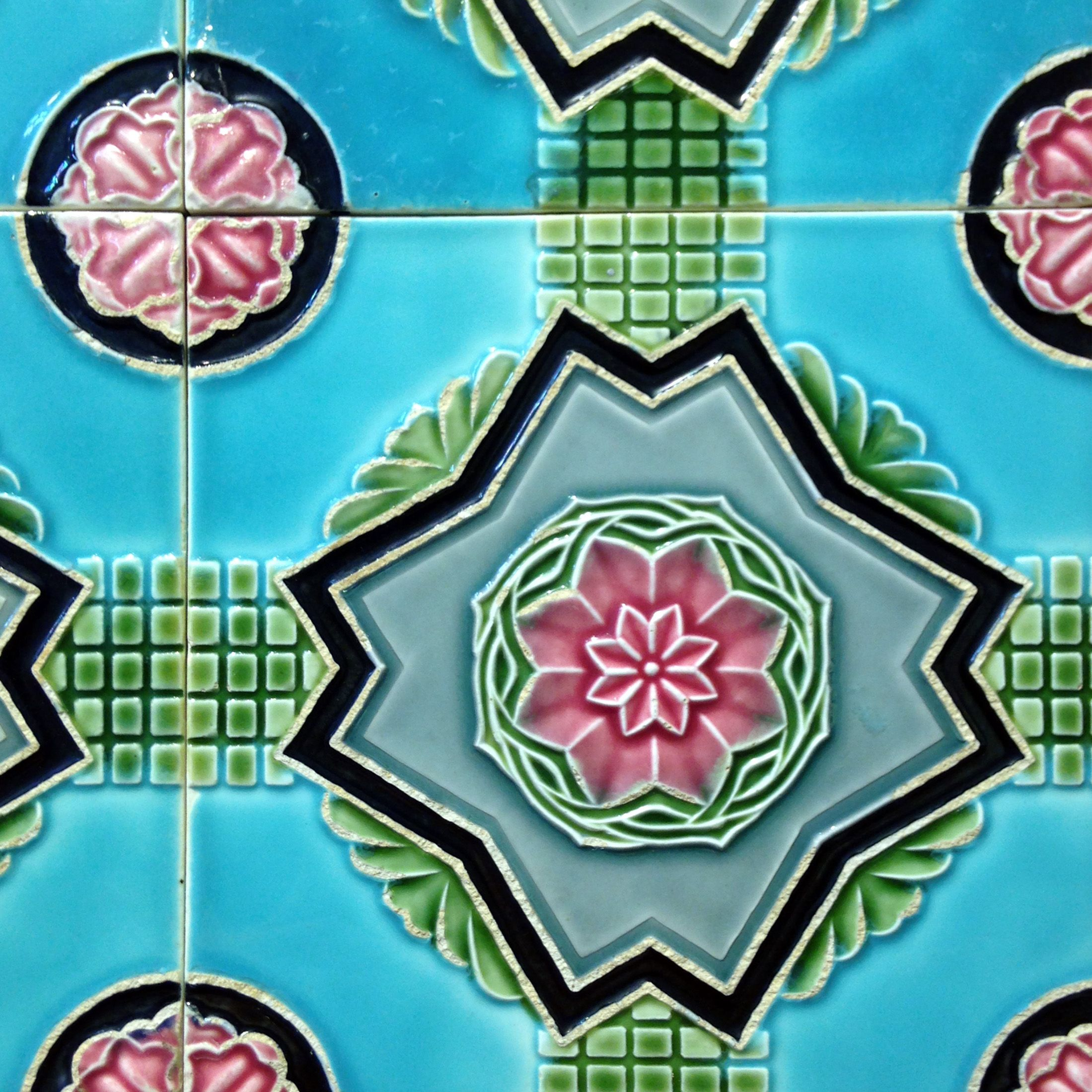 Good Retro Tile Art Abstract Artwork Retro