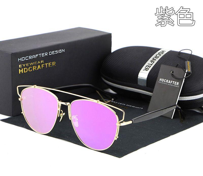Polarized 2017 new sunglasses women brand designer luxury metal coating #Unbranded