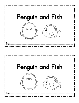 Penguin Emergent Reader from Perfectly Preschool on