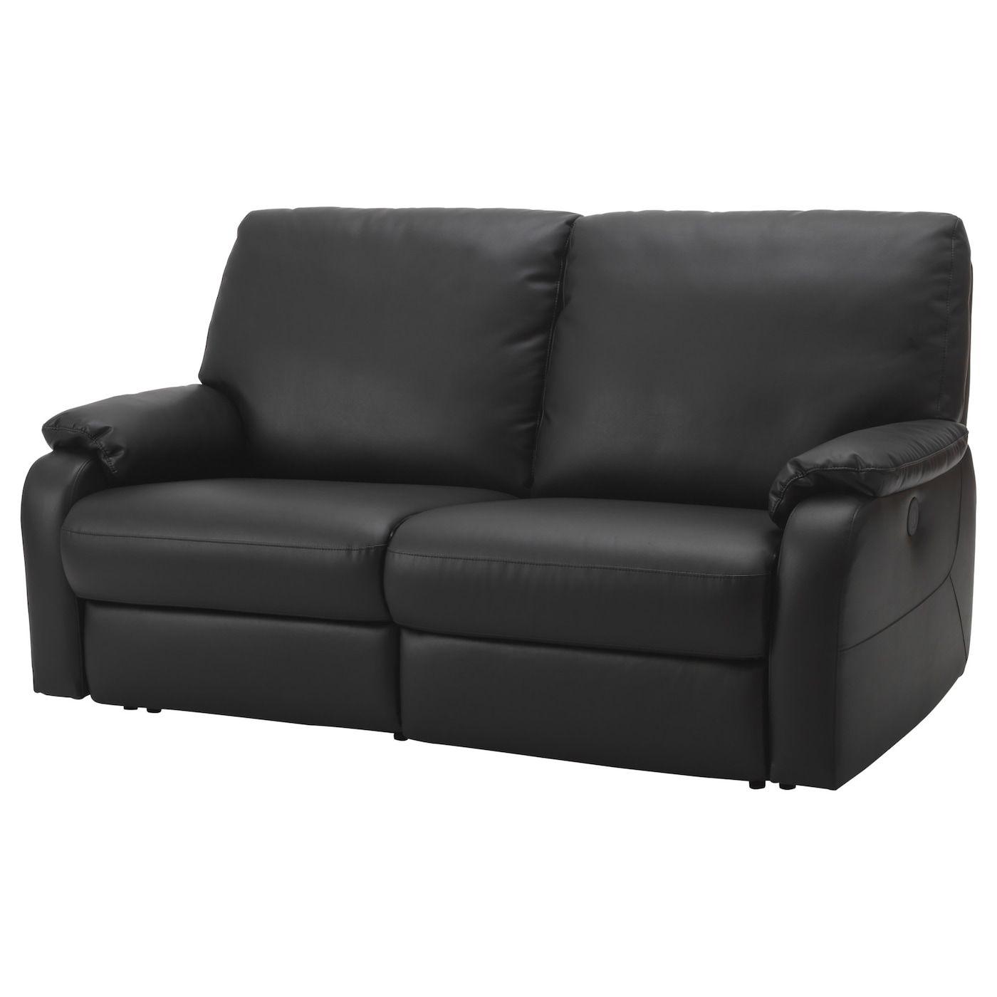 Tomback Sofa With Adjustable Seat Back Kimstad Black Ikea Leather Sofa Bed Black Leather Sofas Best Leather Sofa
