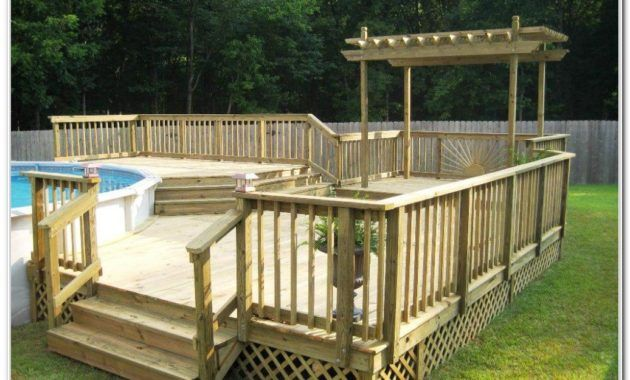 Deck Design Ideas For Above Ground Pools 40 uniquely awesome above ground pools with decks Above Ground Pool Deck Design Ideas