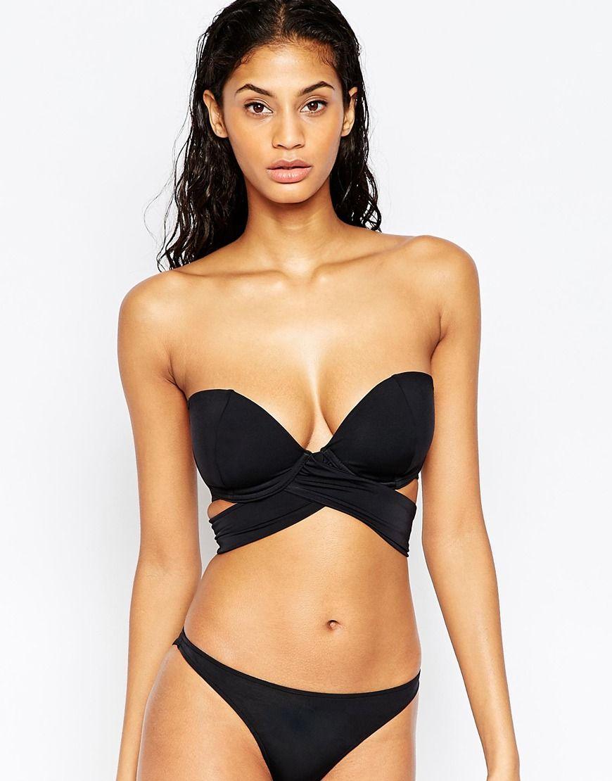 ASOS FULLER BUST Mix and Match Multi Wrap Bandeau Bikini ...
