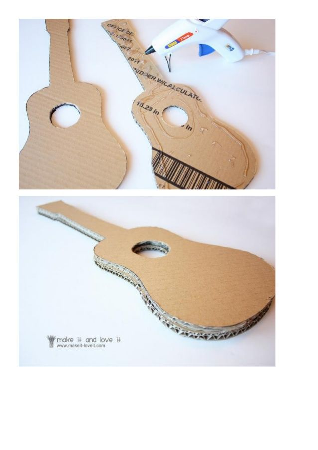 Como hacer instrumentos musicales caseros manualidades for Guitarras para ninos casa amarilla