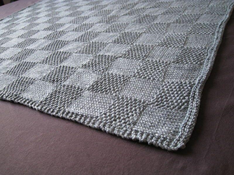 modele tricot plaid