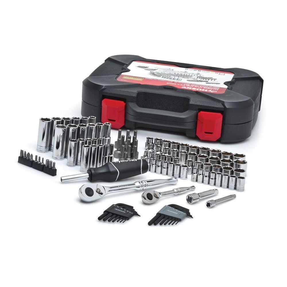 Husky Mechanics Tool Set 111 Piece H111mts The Home Depot Mechanics Tool Set Mechanic Tools Tool Case