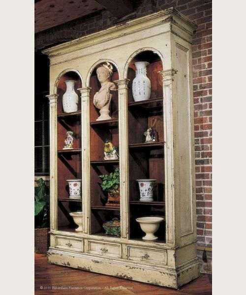 habersham versailles bookcase with glass - Habersham Furniture