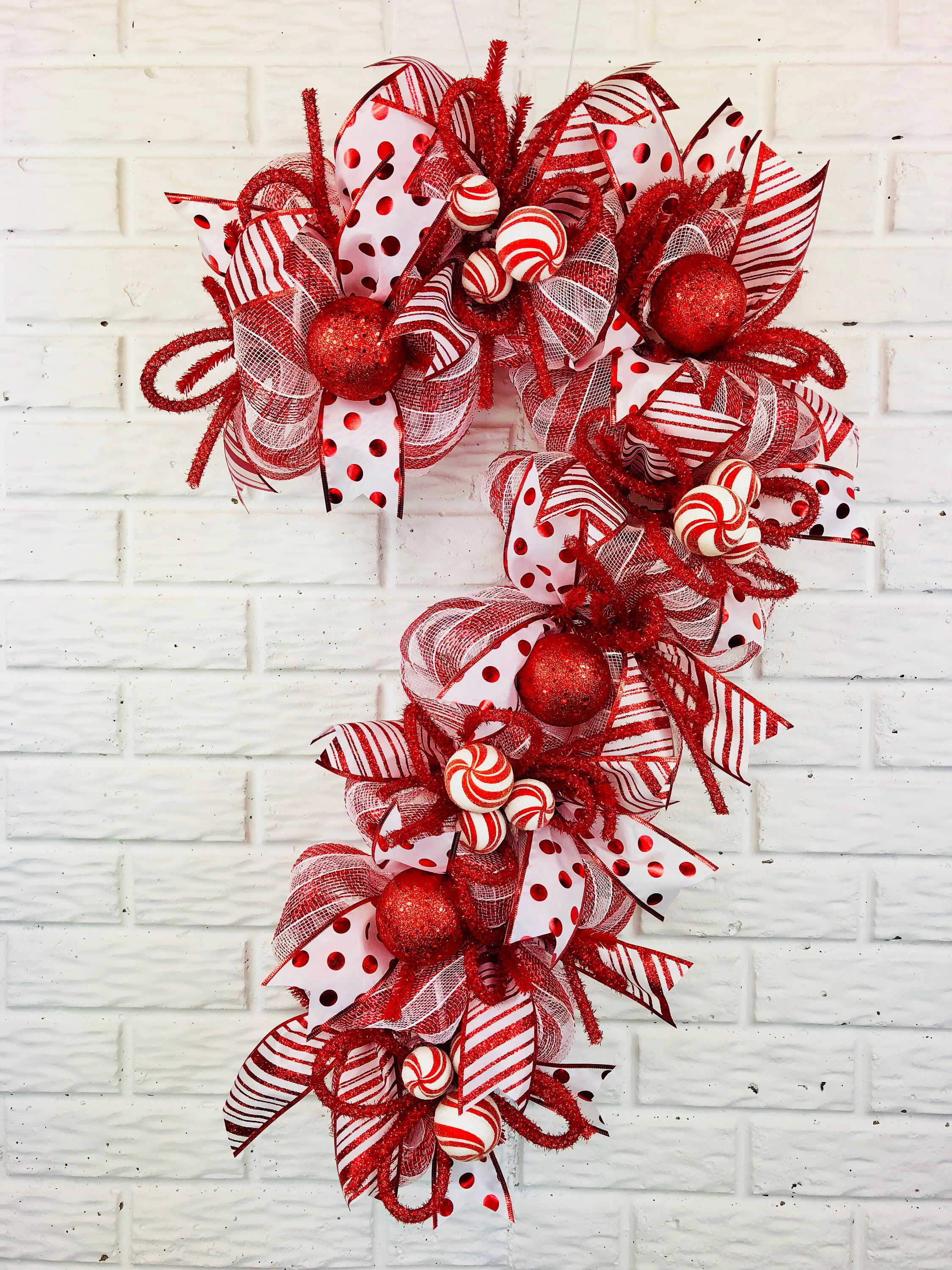 Your place to buy and sell all things handmade #candycanewreath