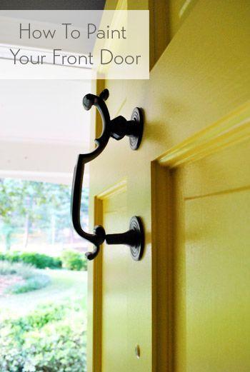 How To Paint Your Front Door | Kerb appeal, Front doors and Doors