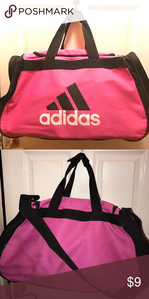 Used Adidas duffle bag pink Large bag Adidas Bags Travel Bags 6071be385e617