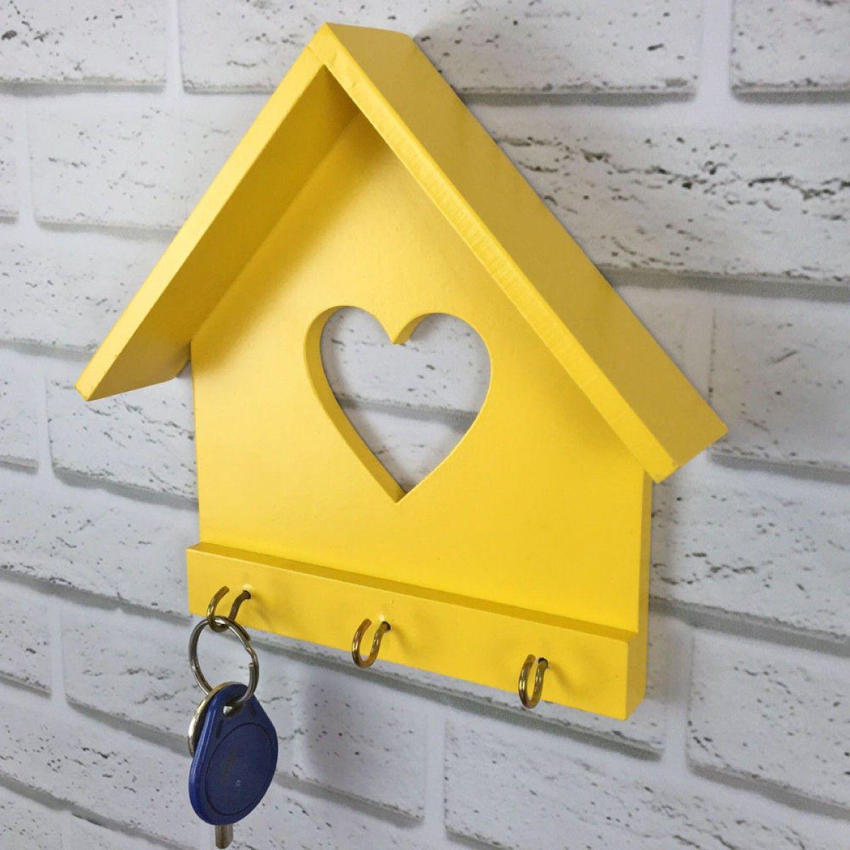 Porta chaves casinha amarela tadah design ideas en for Casa amarilla instrumentos