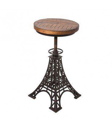 Sgabello da Bar regolabile in legno e metallo, colore ne
