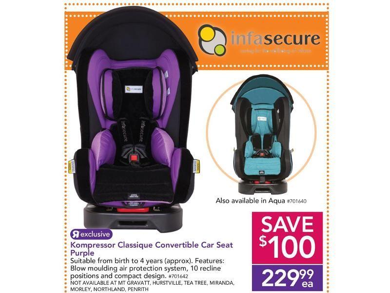 Infa Secure Kompressor Classique Convertible Car Seat Purple Babies R Us