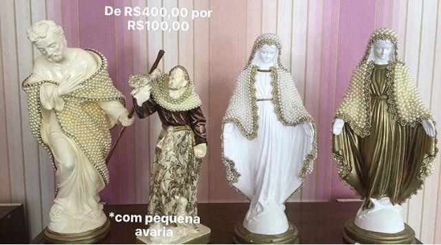 Tem novidade para vocês(😍). Todas as sexta estaremos trazendo promoções muito especiais!! Hoje é a vez dos santos que estavam de R$400,00 e estão por R$100,00!! Venham conferir, eles são de apaixonar! 🙏🏼💗