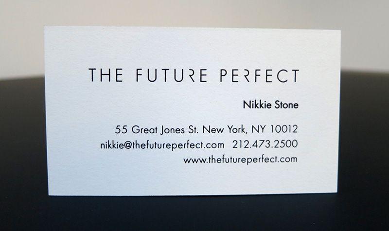 Simple Sleek Business Card Print Shop New York City Nyc