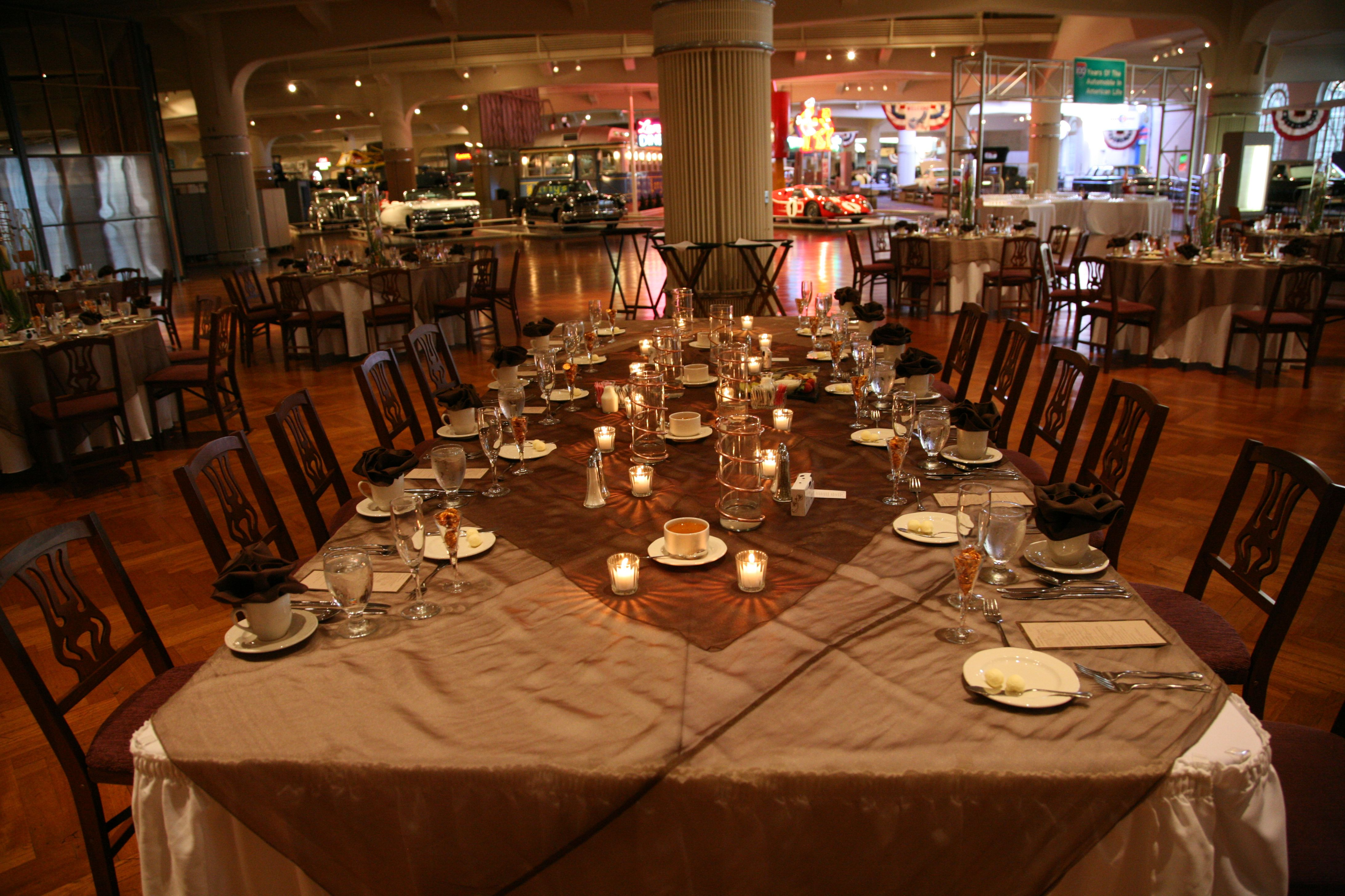 Captains Style Head Table Reception At Henry Ford Museum Dearborn Mi