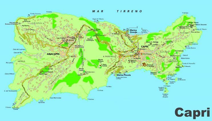Capri And Anacapri Map