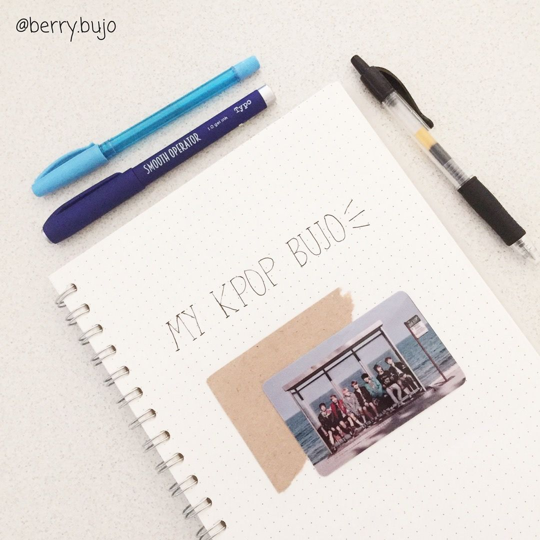 front cover of my new kpop bujo!! | Bullet journal ideas ...