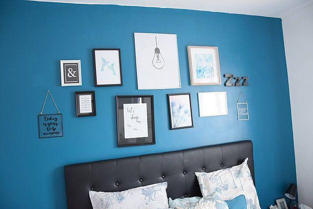 Un peu de déco_La chambre parentale tableaux MAISON chambre à