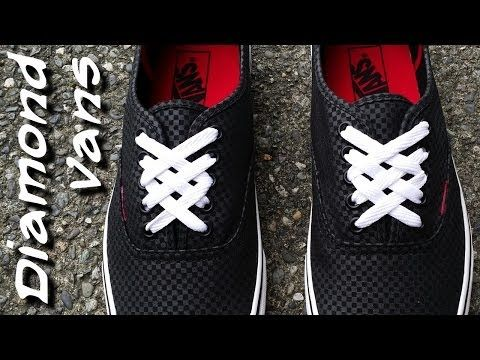 Cool How To Diagonal Lace Your Shoes with No Bow YouTube