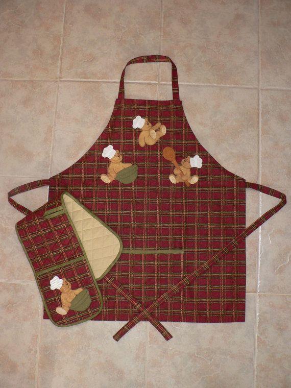 Cheeky Chefs Apron And Oven Mitt Pattern Retazos De Tela