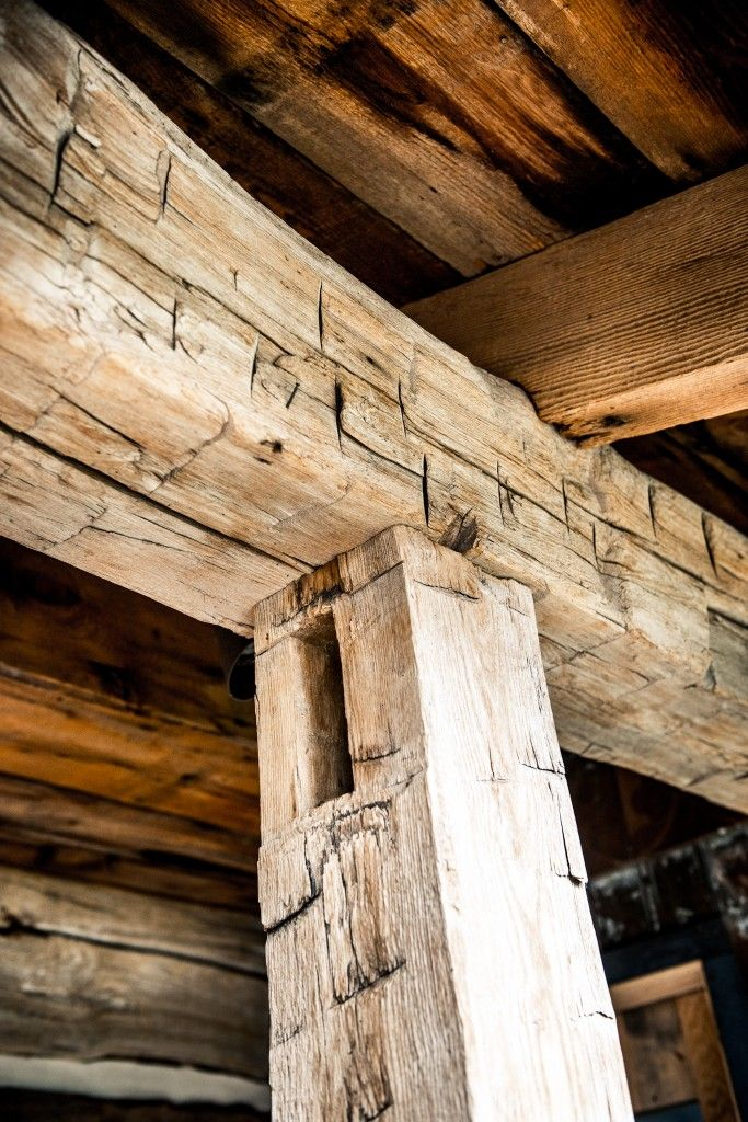 Hand Hewn Post And Beam With Dimensional Lumber Framing