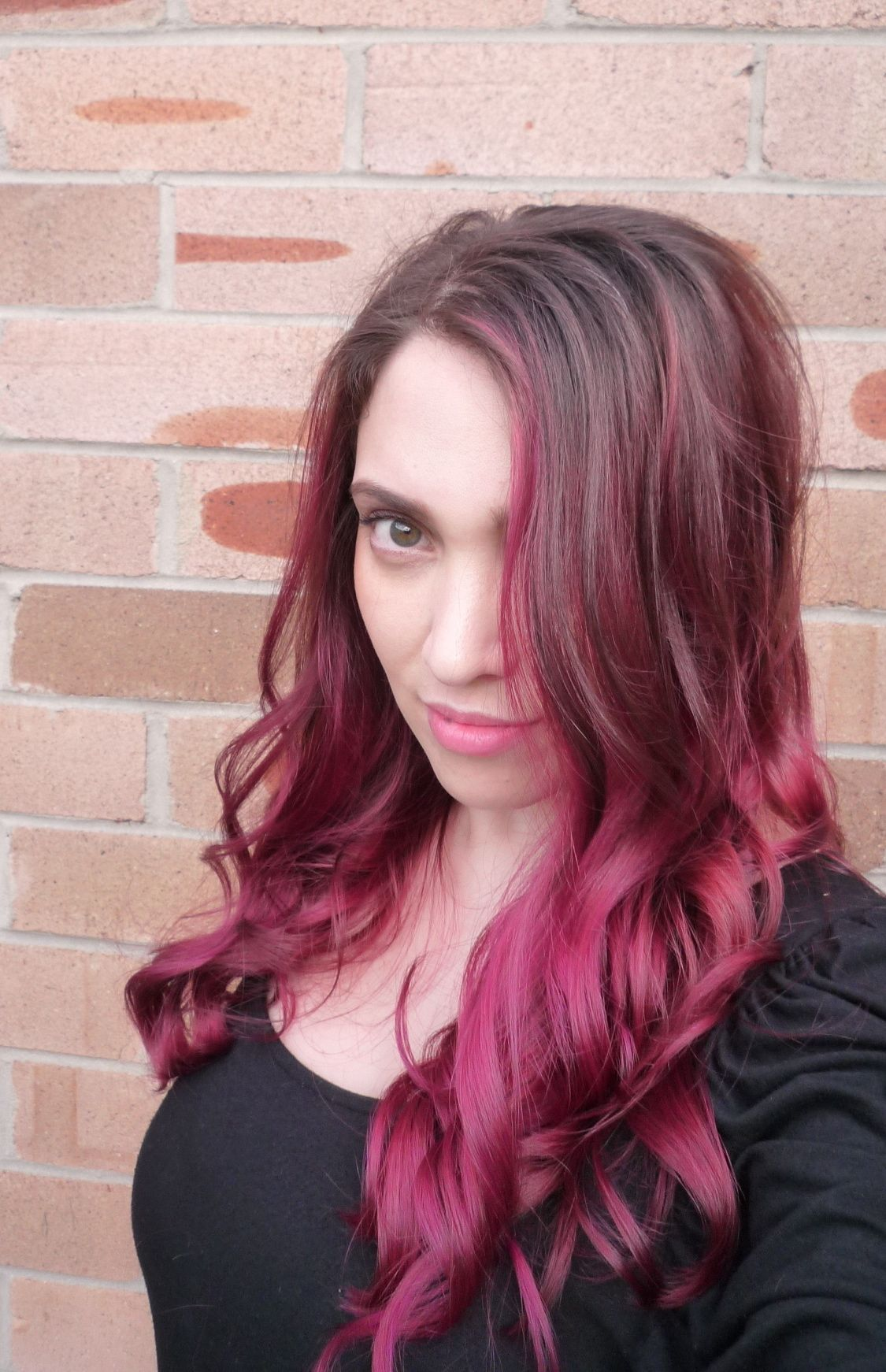 Purple Color Ombre Hair Wella Colorid Pink Purple Ombre Hair Cw