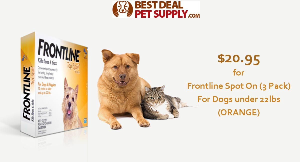 Best Deal Pet Supply Is Offering Frontline Spot 3 Pack For Dogs