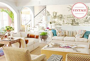 Look on the Bright Side: Vintage Beachy Take on Chinoiserie