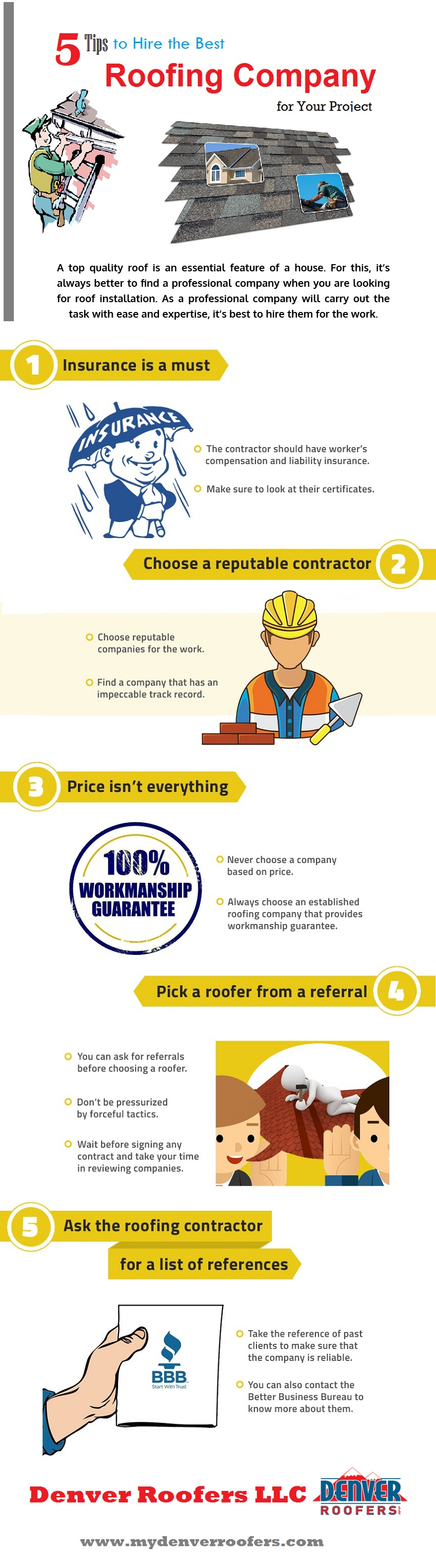 5 Tips To Hire The Best Roofing Company For Your Project