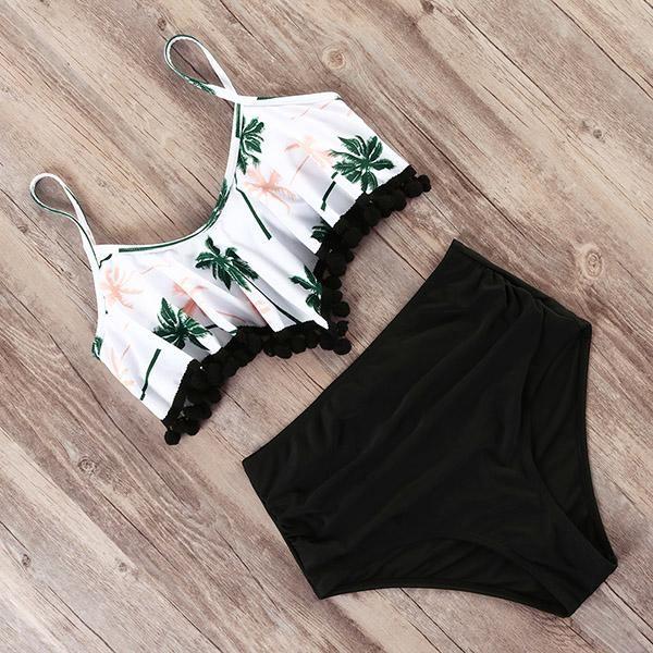 Portia High Waist Bikini Set for just $27.99. #DreamClosetCouture #Fashion #Dresses #BeachWear #Cute #Babe #2PieceBikini #DreamCloset #2019 #BeachDress #summerswimwear