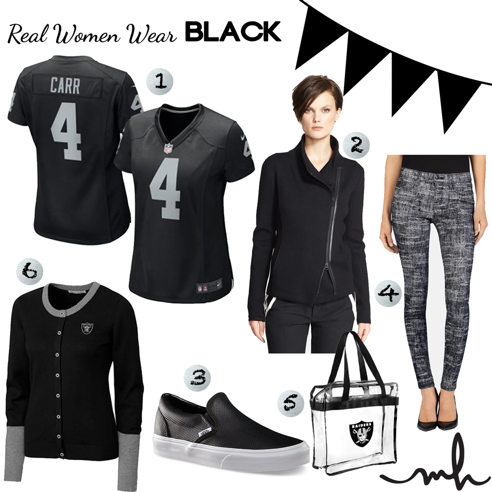 "best website d27ad b95cd Real Women Wear Black"" – Oakland Raiders Game Day Style for ..."