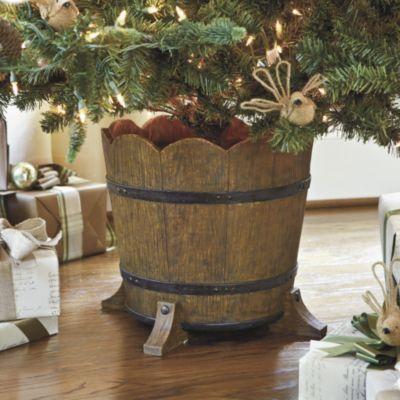 Barrel Planter Christmas Tree Stand Holiday Accessories Ballard Designs
