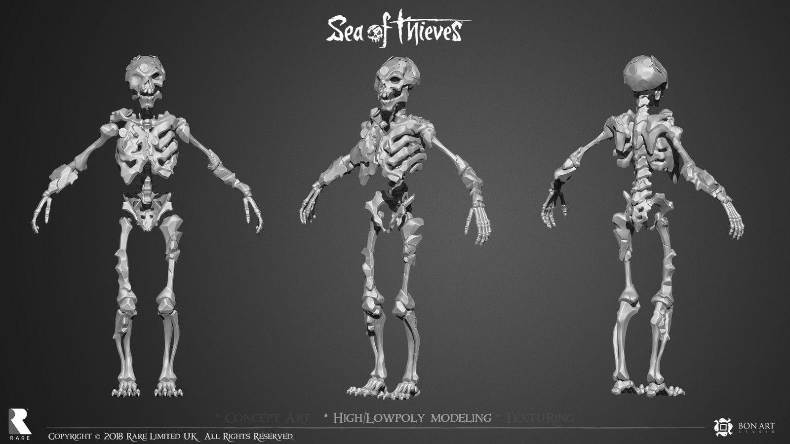 Sea Of Thieves Metal Skeleton 01 Ivan Yosifov On Artstation At Https Www Artstation Com Artwork Odgkw Sea Of Thieves Thief Sea