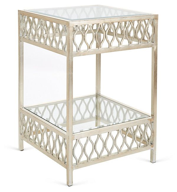 One Kings Lane Mix It Up Felix Side Table Silver Living Room Side Table Furniture Lane Furniture