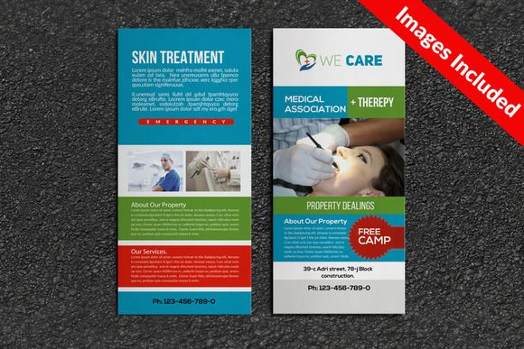 Medical Rack Card Template  Card Templates Business Flyers And Adobe