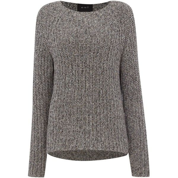Oui Chunky knitted jumper (€80) ❤ liked on Polyvore featuring ...