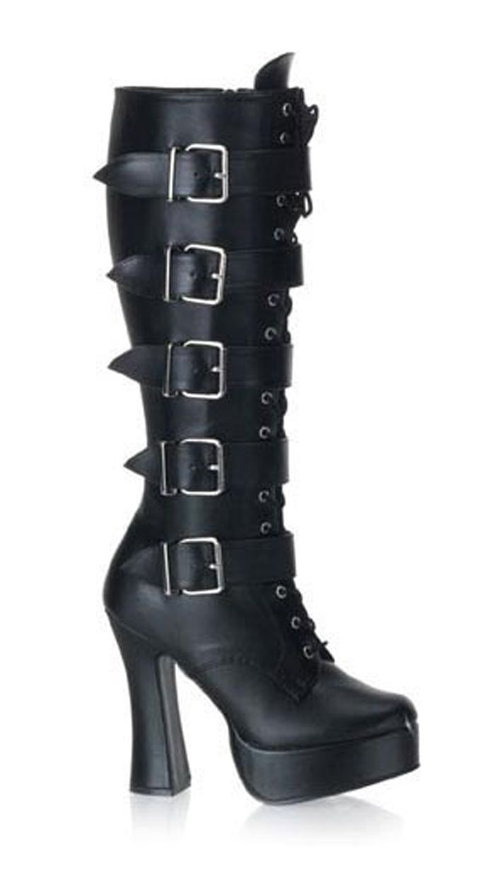 9097fbf4d3920 What's Ur Style 5 Inch Stack Heel With 1 1/2 Inch Platform Boots ...