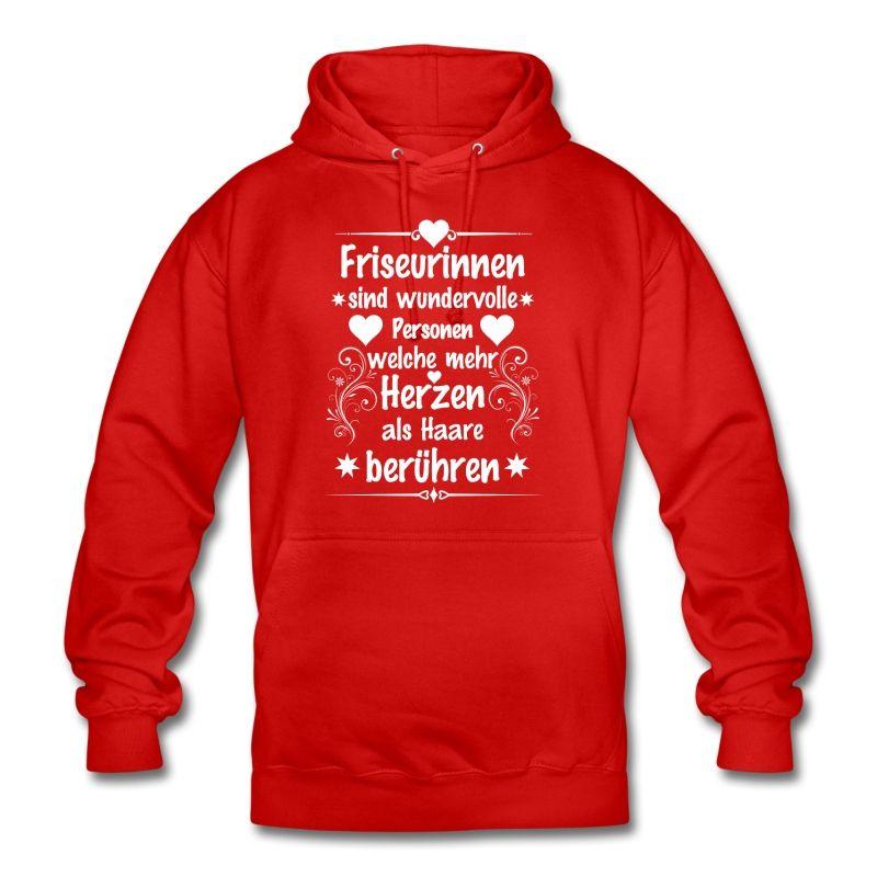 #Friseurinnen sind wundervolle #Personen welche mehr #Herzen als #Haare berühren. Tolles #Design und cooler #Spruch auf dem roten #Hoodie (#Kapuzenpullover). EINFACH HIER KLICKEN!