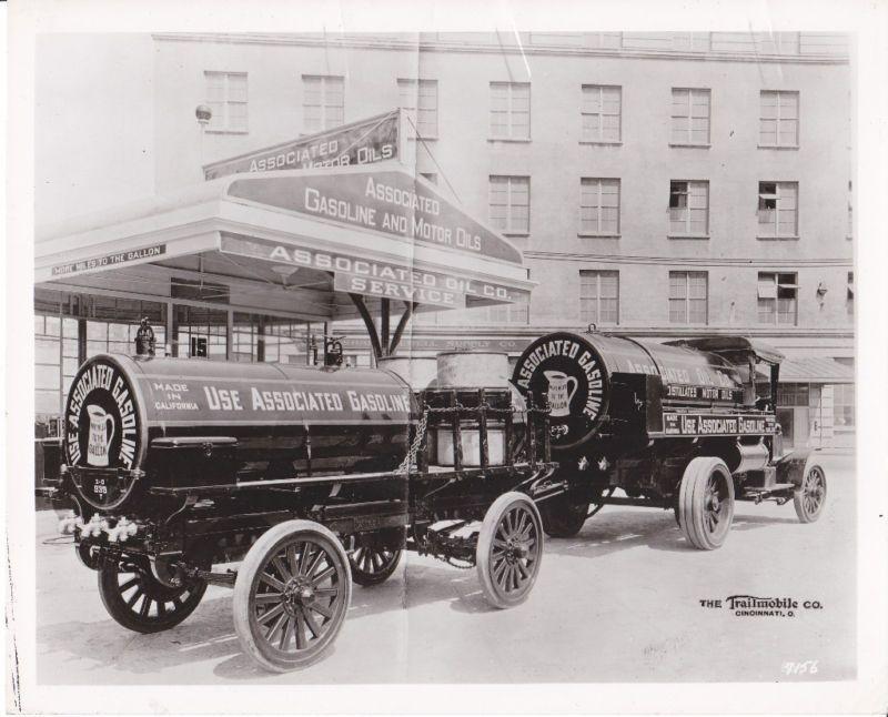 "Details about  /1920s  Gas//Gasoline//Oil truck w// Cast Iron Wheels-4.25/"""