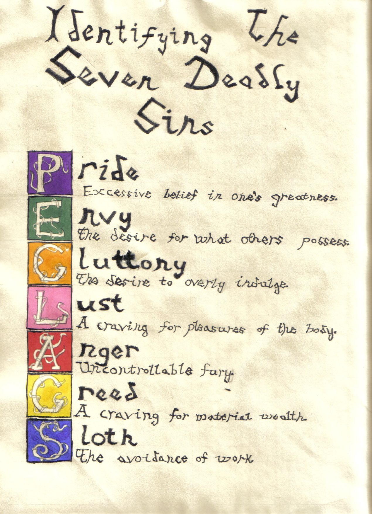 Charmed Book Of Shadows Symbol Seven Deadly Sins By