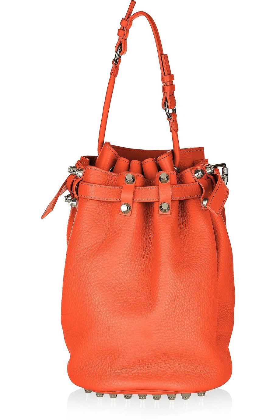 Alexander Wang - Diego textured-leather shoulder bag