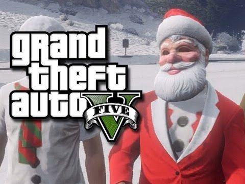 Gta 5 Christmas Snow In Los Santos Gta 5 Gta Gta 5 Funny