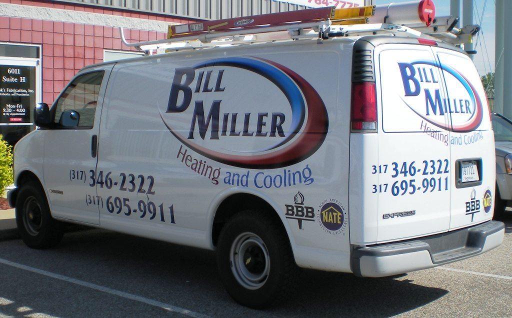 Bill Miller Heating & Cooling / HVAC / van graphics / van
